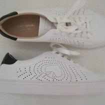 Kate Spade Aaron Ashlyn Womens White Perforated Leather Tennis Sneakers Sz 8.5 Photo