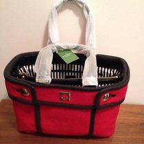 Kate Spade Alda Quinn Chestnut Hill Tote Hand Bag  Nwt Red Black Photo