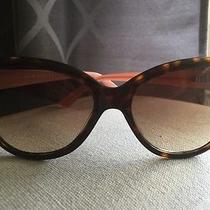 Kate Spade Angelique Tortoise Blush Cat Eye Sunglasses Photo