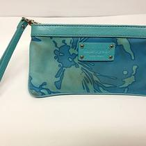 Kate Spade Aqua Blue Hand Clutch Wallet Photo