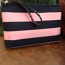 Kate Spade Authentic Pink and Navy Clutch Photo
