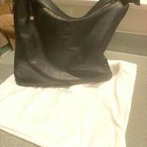 Kate Spade Black Leather Hobo Shoulder Handbag Print Lining Photo