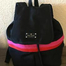 Kate Spade Black Medium Nylon Backpack Excellent Condition Photo