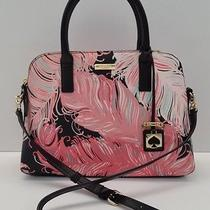 Kate Spade Brightwater Drive Small Rachelle Painted Leather Satchel (Plum Blush) Photo