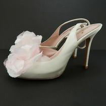 Kate Spade Camilla Womens Shoes Peep Toe Flower Sandals Heels Sz 5.5 M Pl8 Photo