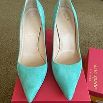 Kate Spade Caribbean Sky Blue Suede Pumps Size 9.5 Eur 39.5 Uk 6.5 Photo