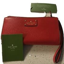 Kate Spade Cherry Apple Red Clutch Wallet Photo