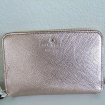Kate Spade Cherry Lane Louie Iphone Wristlet Wallet in Rose Gold Nwt Photo