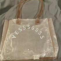 Kate Spade Clear Blush Pink Purse Shoulder Beach Bag Shopper Tote Yesssssss Photo