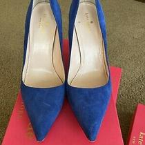 Kate Spade Cobalt Blue Suede Pumps Size 9.5 Eur 39.5 Uk 6.5 Photo