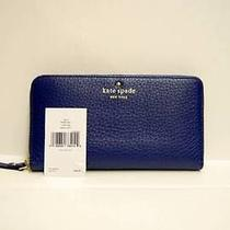 Kate Spade Cobble Hill Lacey Laguna Blue Leather Iphone 6  3/4 Zip Wallet - 198 Photo