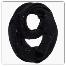 Kate Spade Cosmic Glow Sequin Infinity Scarf Black Photo