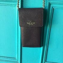 Kate Spade Crossbody Phone Case Wallet Pebble Leather Gold Chain Photo
