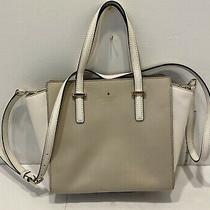 Kate Spade Crossbody Purse Beige White Gold Photo