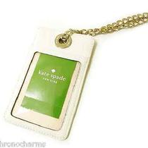 Kate Spade Designer Id Badge Holder Identification New Gold Fancy Chain Necklace Photo