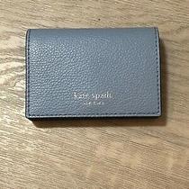 Kate Spade Eva Accordion Blue Card Case Small Wallet  Photo