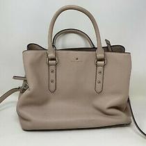 Kate Spade Evangeline Bag Larchmont Avenue Pebbled Leather Blush Vellum Satchel Photo