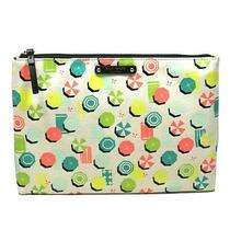 Kate Spade Gia Sandhill Circle Large Flat Pouch/ Cosmetic Bag Umbrellas 78 Photo