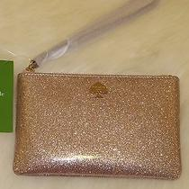 Kate Spade Glitter Bug Bee Rose Gold Wristlet Wallet Pwru3958 Nwt Rare Photo