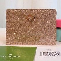 Kate Spade Glitter Bug Card Holder Case Rosegold Rose Pink Sparkle Nwtgift Box Photo
