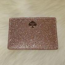Kate Spade Glitter Bug Card Holder in Rose Gold  Pwru3959  Bnwt & Gift Box Photo
