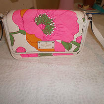 Kate Spade Hand Bag Beautiful Bright Colors Pink/orange/white Photo