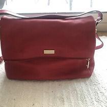Kate Spade Highland Place Medium Maria  Deep Blaze Red Purse Bag Photo