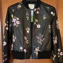 Kate Spade in Bloom Floral Leather Bomber Jacket Nwt Xs Photo