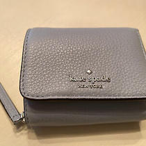 Kate Spade Jackson Sm Trifold Continental Wallet Frosted Blue Nwt 129 Photo