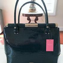 Kate Spade Knightsbridge Constance Blue Navy Patent Croc Leather Tote Bag 698 Photo