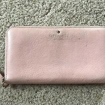 Kate Spade Lacey Mikas Pond Leather Clutch Wallet Pink Blush Photo