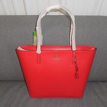 Kate Spade Lacquer Red Sawyer Street Maxi Leather Tote Handbag Purse Wkru2818 Photo