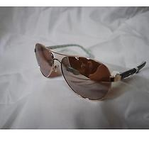 Kate Spade Ladies Rose Gold Frame Mirrored Blossom Aviator Sunglasses Nwt Box Photo