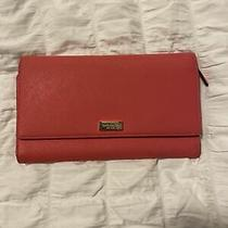 Kate Spade Large Pink Wallet ( Can Be Used as a Small Clutch) Photo