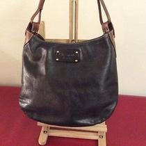 Kate Spade Leather Handbag Black & Brown Leather Photo