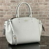 Kate Spade Leather Tegan Medium Satchel Shoulder Crossbody Bag Purse 359 White Photo