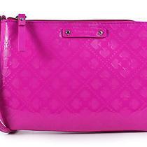 Kate Spade Lolly Emerald Avenue Snapdragon Shiny Purse  Wristlet Bag Nwt Photo