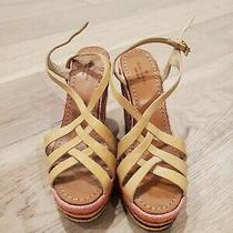 Kate Spade Lux Nude Patent Leather Rainbow Wedge Espadrille Sandals 8 278  Photo