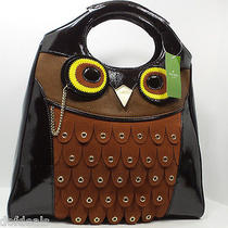 Kate Spade Maximillian Maxwell Owl Tote Patent Leather/suede Wkru0886 428