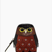 Kate Spade Maximillian Minerva Owl Patent Leather Suede Coin Purse New Photo