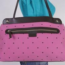 Kate Spade Med to Lrg Pink Brown Leather Shoulder Hobo Tote Satchel Purse Bag Photo