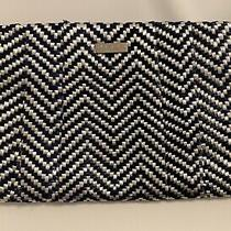Kate Spade Navy and White Straw Clutch Purse Photo