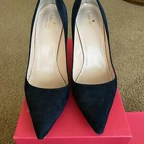 Kate Spade Navy Blue Pumps Size 9.5 Eur 39.5 Uk 6.5 Photo
