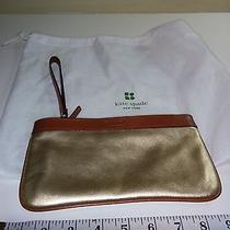 Kate Spade New Wristlet Wrist Purse / Clutch Handbag - Gold/brown Photo