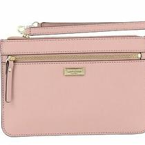 Kate Spade New York 250756 Womens Leather Handbag Clutch Pink Blush Photo