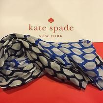 Kate Spade New York Capri Scarves Geometric Lemon Infinity Scarf Azreble/nv Photo