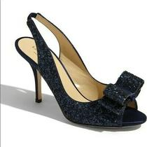 Kate Spade New York - Charm Navy/glitter/satin Pumps. Size 7 1/2 M Photo