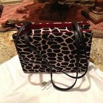 Kate Spade New York- Faux Giraffe Fur Handbag Mint Condition W/ Storage Bag Photo