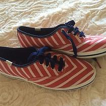 Kate Spade New York for Keds Red Stripe Casual Athletic Shoes Size 6 Photo