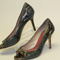 Kate Spade New York Italy Made Womens 8 B Leather Peep Toe Pumps Heels Shoes Photo